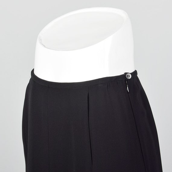 Small 1990s Giorgio Armani Black Maxi Skirt Merma… - image 5