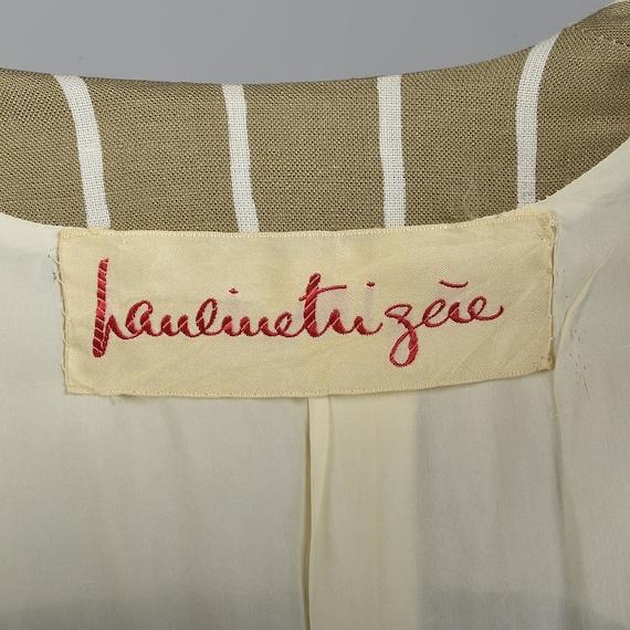 Large Pauline Trigere Skirt Suit Blazer Jacket 19… - image 5
