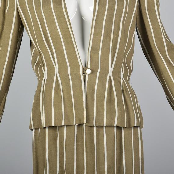 Large Pauline Trigere Skirt Suit Blazer Jacket 19… - image 10