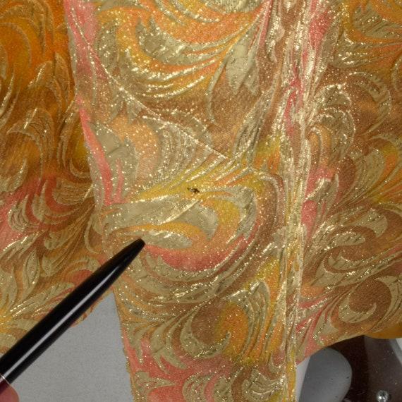 1960s Lucie Ann Kaftan Metallic Gold Tent Dress L… - image 9