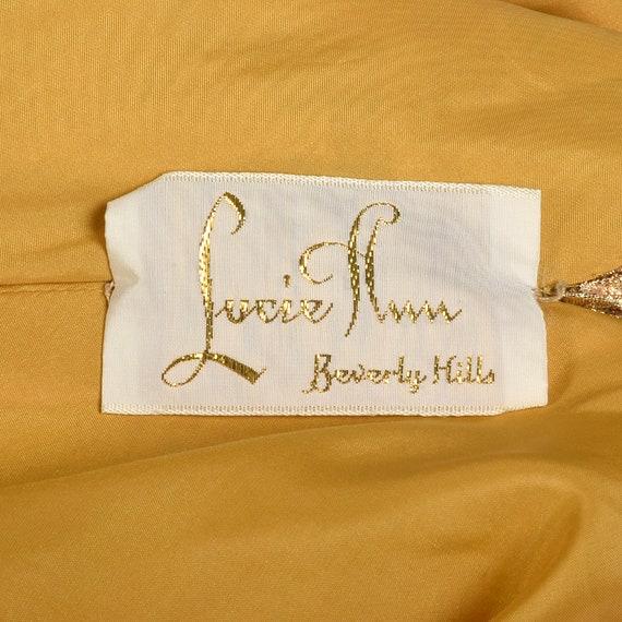 1960s Lucie Ann Kaftan Metallic Gold Tent Dress L… - image 10