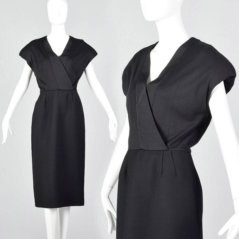 186dfbe607 Small Geoffrey Beene Black Pencil Dress Simple Vintage Dress