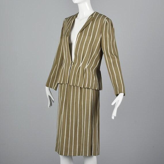 Large Pauline Trigere Skirt Suit Blazer Jacket 19… - image 2