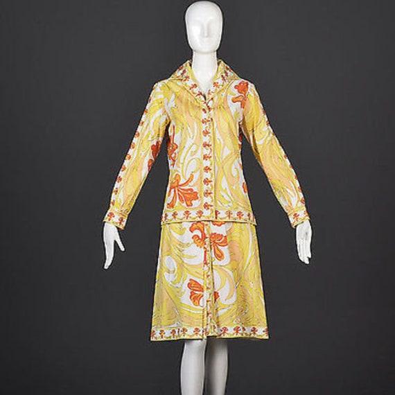 60s Emilio Pucci Cotton Pucci Suit Pucci Print 60… - image 1