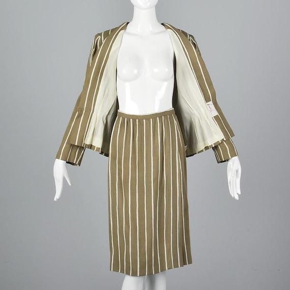 Large Pauline Trigere Skirt Suit Blazer Jacket 19… - image 4