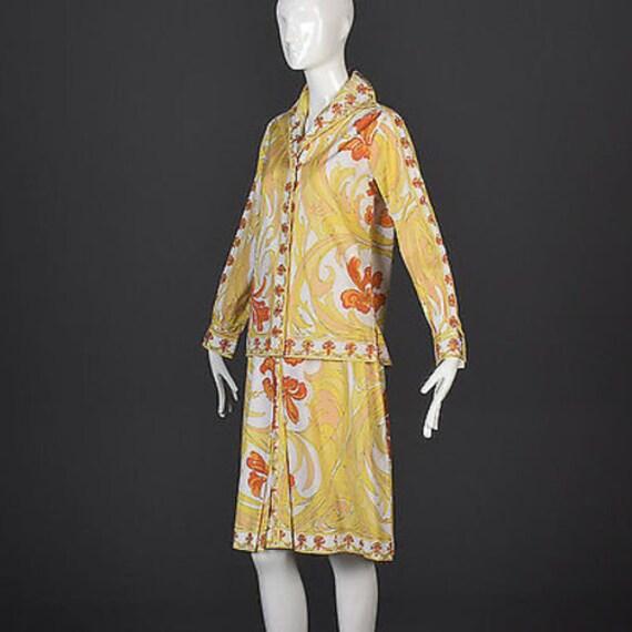 60s Emilio Pucci Cotton Pucci Suit Pucci Print 60… - image 2