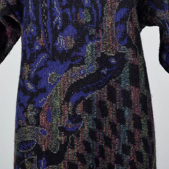 Turtleneck Cozy Medium Wool Emanuel 80s Sweater Button Ungaro Long Vintage 1980s Mohair Up Sleeve Dress Dress qBfSH8
