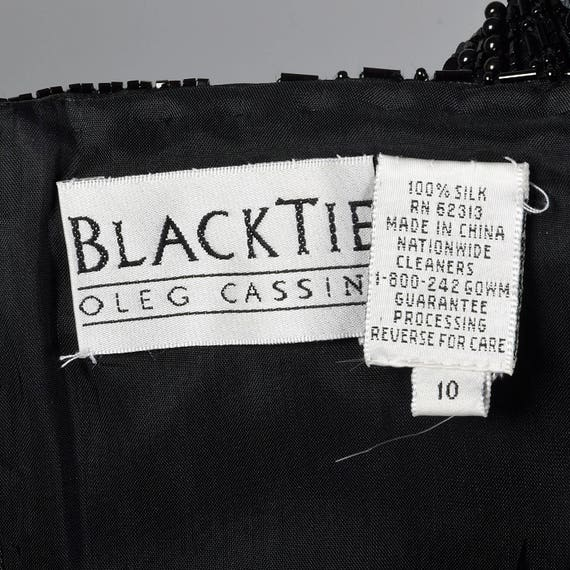 Wedding Tie Black Oleg Gown Dress Beaded Flowy Cassini Off Gown Shoulder Alternative Silk Dress Chiffon Dress Evening Evening Black fqFqwP4
