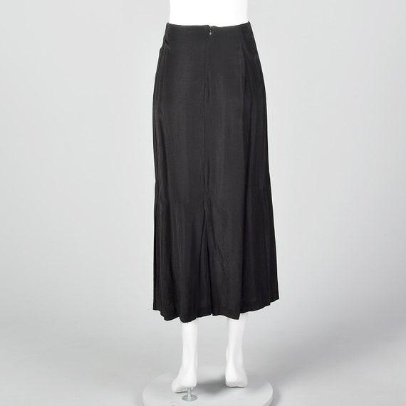 Small 1980s Norma Kamali Black Mermaid Skirt Plea… - image 2