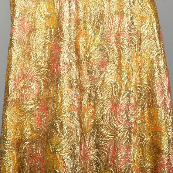 1960s Lucie Ann Kaftan Metallic Gold Tent Dress L… - image 6