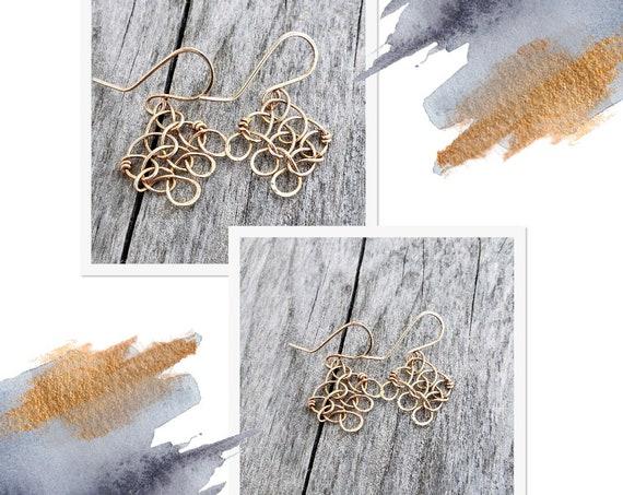 Stitch in Nine Bronze Earrings