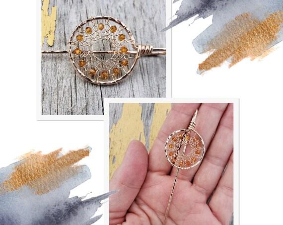 Bronze Mandala Stick Pin (Small)
