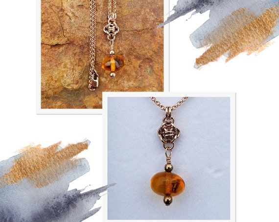 Amber Drop Necklace -  30%+ off!