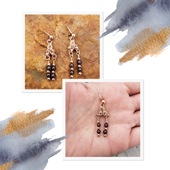 Partridgeberry Cluster Earrings (Post and Nugget Style) -50% Off