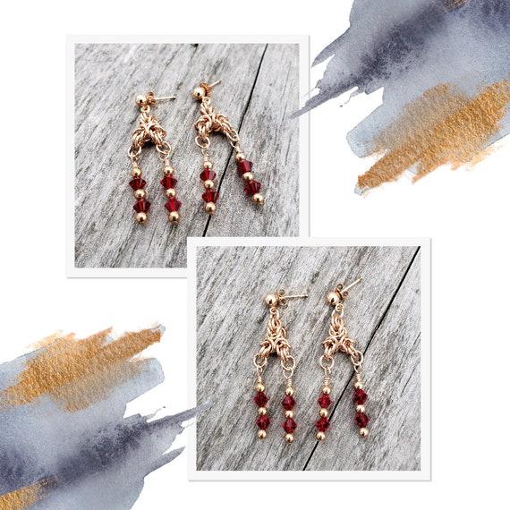 Crystal Red Earrings - 50% off!