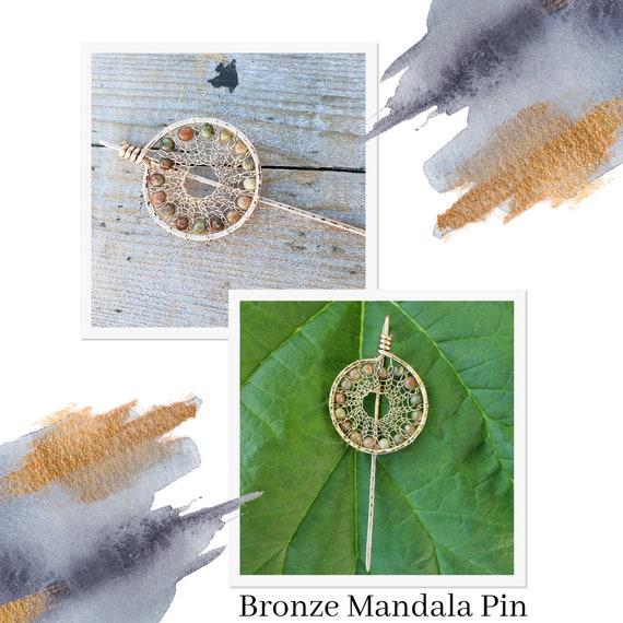 Bronze Mandala Stick Pin (Large)