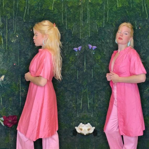 1960s Bubblegum Pink Overcoat - image 1