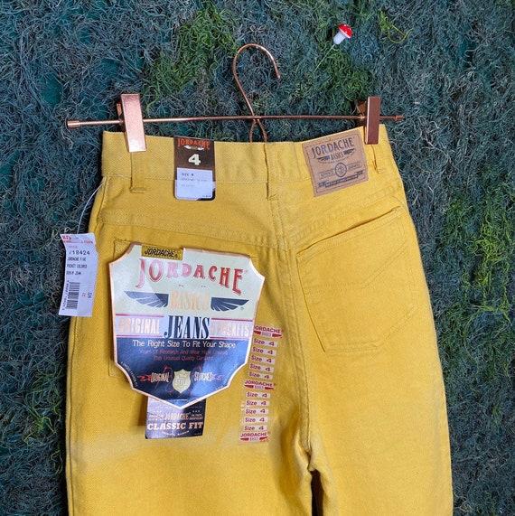 DEADSTOCK 198os Yellow Jordache Jeans