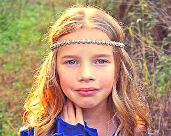 Gold Halo Headband - Wedding Headband - Bridal Headband - Flower Girl Headband - Bridesmaid Headband - Gold Rhinestone Halo Headband