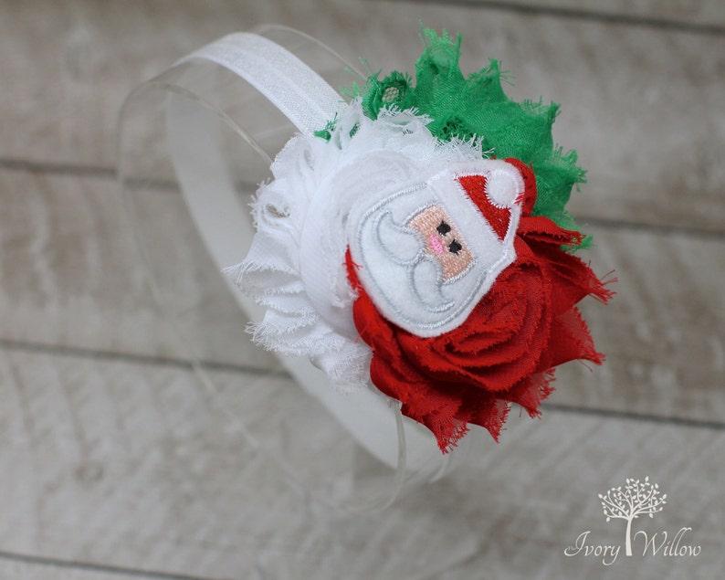 Santa Claus Headband Baby Headband Adult Headband Felt Santa Claus Headband Christmas Headband Red White and Green Headband