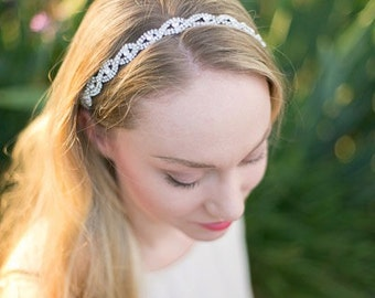 Silver Bridal Headband - Wedding Headband - Silver Wedding - Photo Prop - Bridal Headpiece - Bridesmaid Headband - Wedding Headpiece