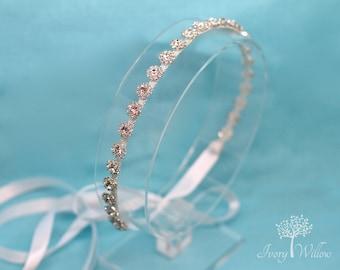 Crystal Bridal Headband - Flower Girl Headpiece- Bridal Headpiece - Prom Headband - Bridesmaid Headband - Wedding Accessory - Prom
