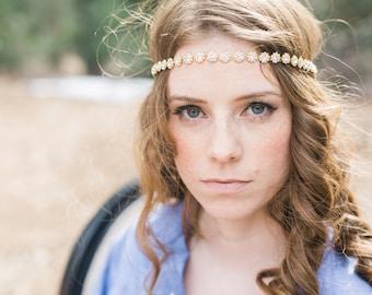 Gold Headband for Wedding - Petite - Gold Headband - Crystal Rhinestone