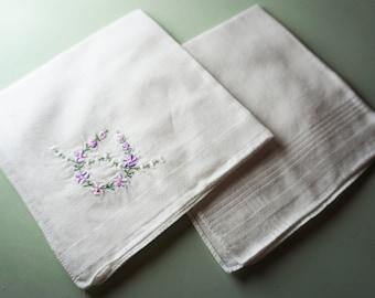 Turned-Under Hem Double Ladies/' Cotton Handkerchiefs