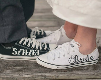 7c9311da903c MADE TO ORDER - Bride   Groom Wedding Converse