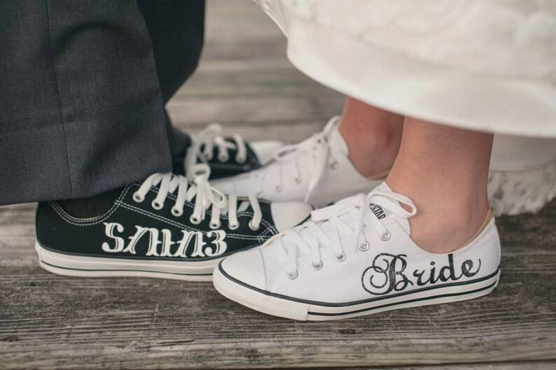 MADE TO ORDER  Bride & Groom Wedding Converse image 0