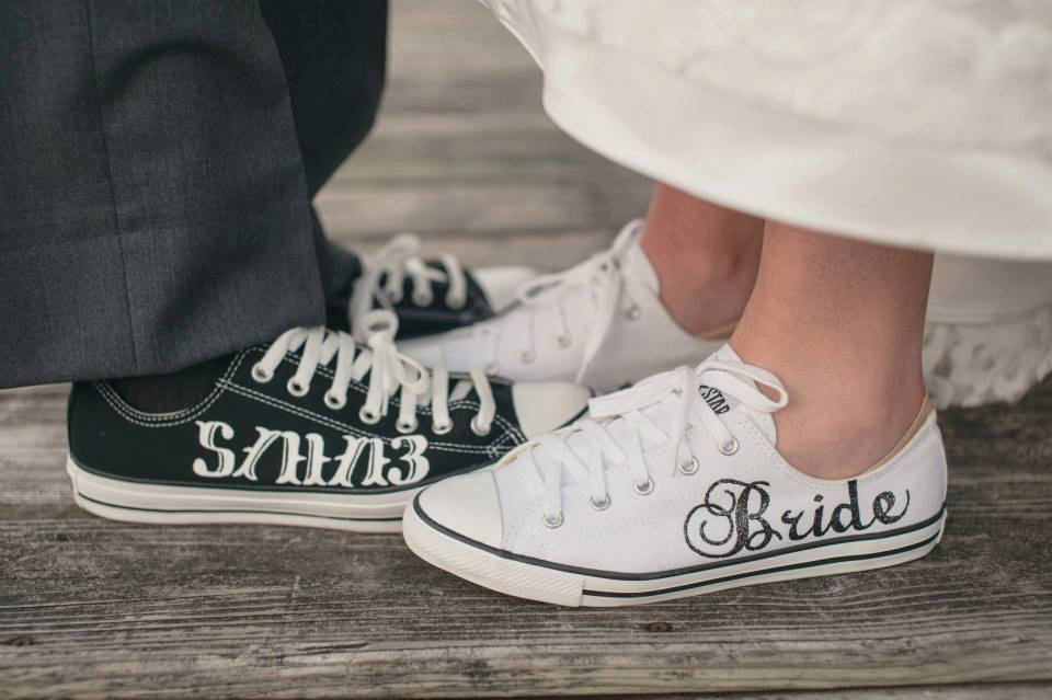 6ff7438e45aa ... authentic made to order bride groom wedding converse etsy fc58e 1ff57