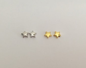 686508620 Tiny Star Earrings. Itsy Bitsy Star Studs. Sterling Silver or 24K Gold Over  Silver. Delicate Tiny Star Studs.Gift for Her. Simple Earrings