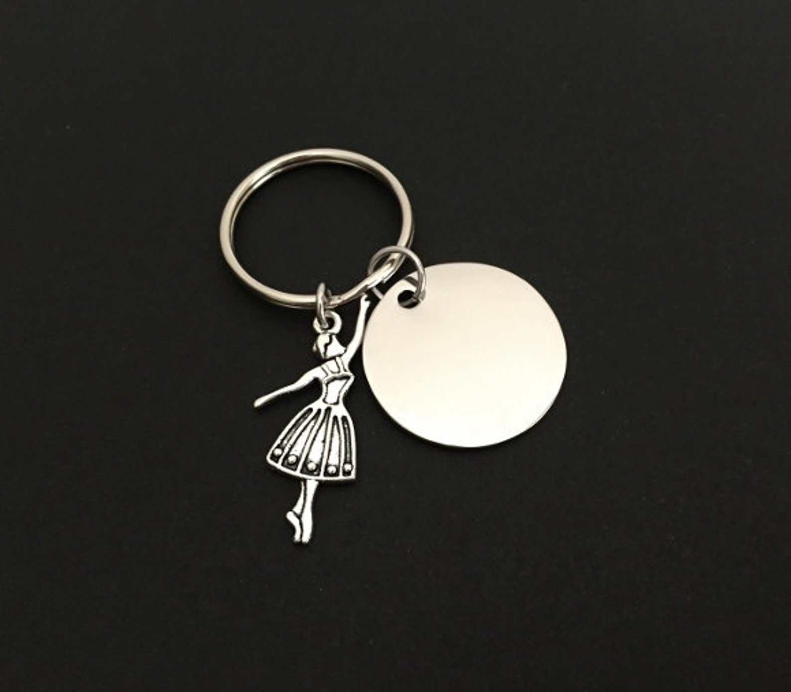 dancer key chain. personalized name key chain. ballet key chain. engraved ballerina key chain. gift for ballerina. gift for girl