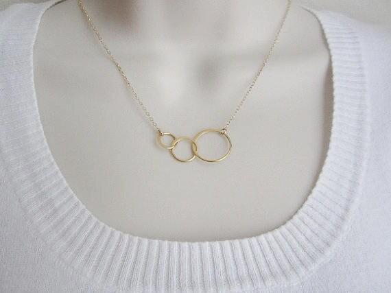 Anillo De Plata Esterlina Simple//círculo infinito//la eternidad Collar Collar.