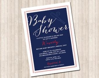 Baby Shower Baseball Invitation  - Little Slugger