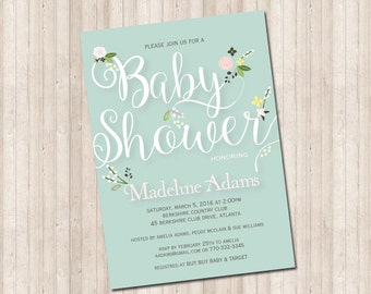 Baby Shower Floral Springs Invitation