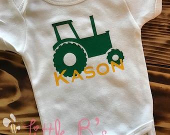 19407b97 John Deere Onesie | Tractor Shirt | Farm Onesie | Country Boy Onesie | Baby  Shower Onesie