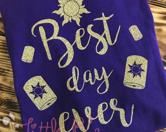best day ever disney shirt rapunzel shirts disney tangled etsy