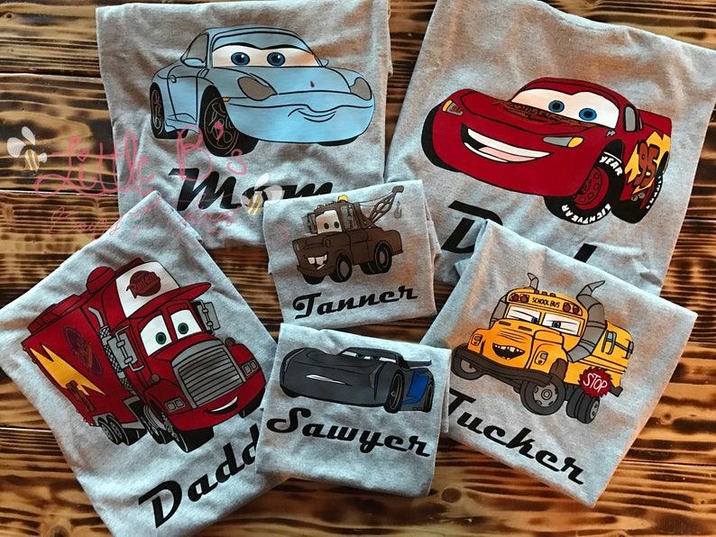Disney Cars Shirt Family Shirts Birthday