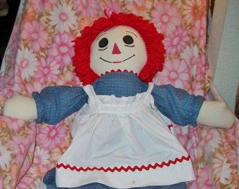 Huge Vintage Raggedy Ann Rag Doll Classic Retro Cloth Toy