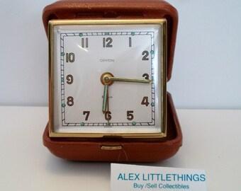 Vintage Bulova Travel Alarm Clock Wind Up 1980's White | Etsy