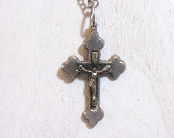 1433095f9282c Greffés croix pendentif Crucifix collier bijoux religieux Vintage  accessoires de mode unisexe