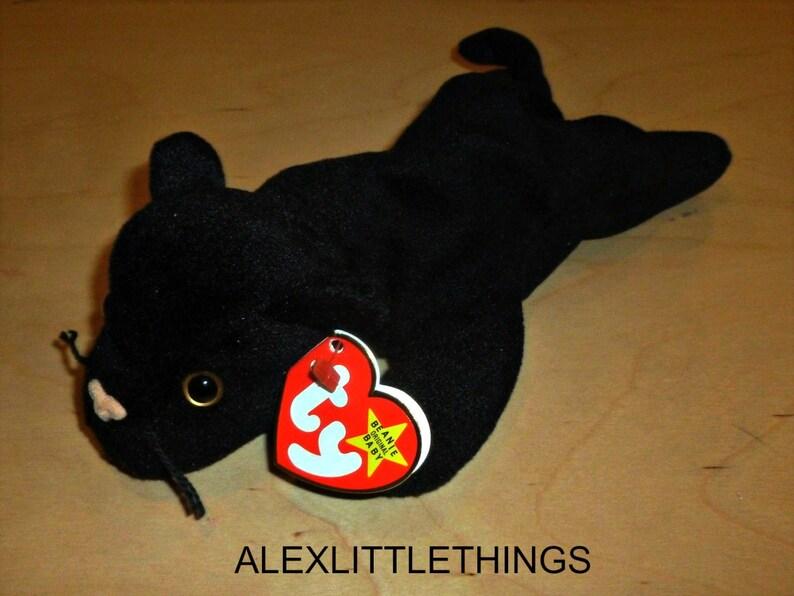 SALE Vintage 1995 Ty Beanie Baby Velvet Black Panther Style  8519e6ebf92