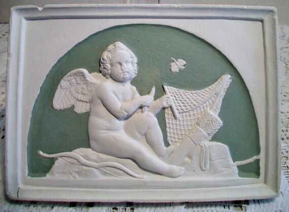 ORIGINAL 1920s FILLMORE CALIFORNIA ORANGE FRUIT CRATE LABEL CHERUB ANGEL CUPID