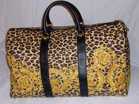 Rare Vintage Gianni Versace Vintage BAROQUE Leopard Print  2c437e31cb164