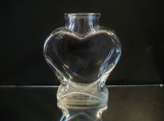 Crayola Clear Glass Heart Vase Valentines Day Romantic Home Etsy