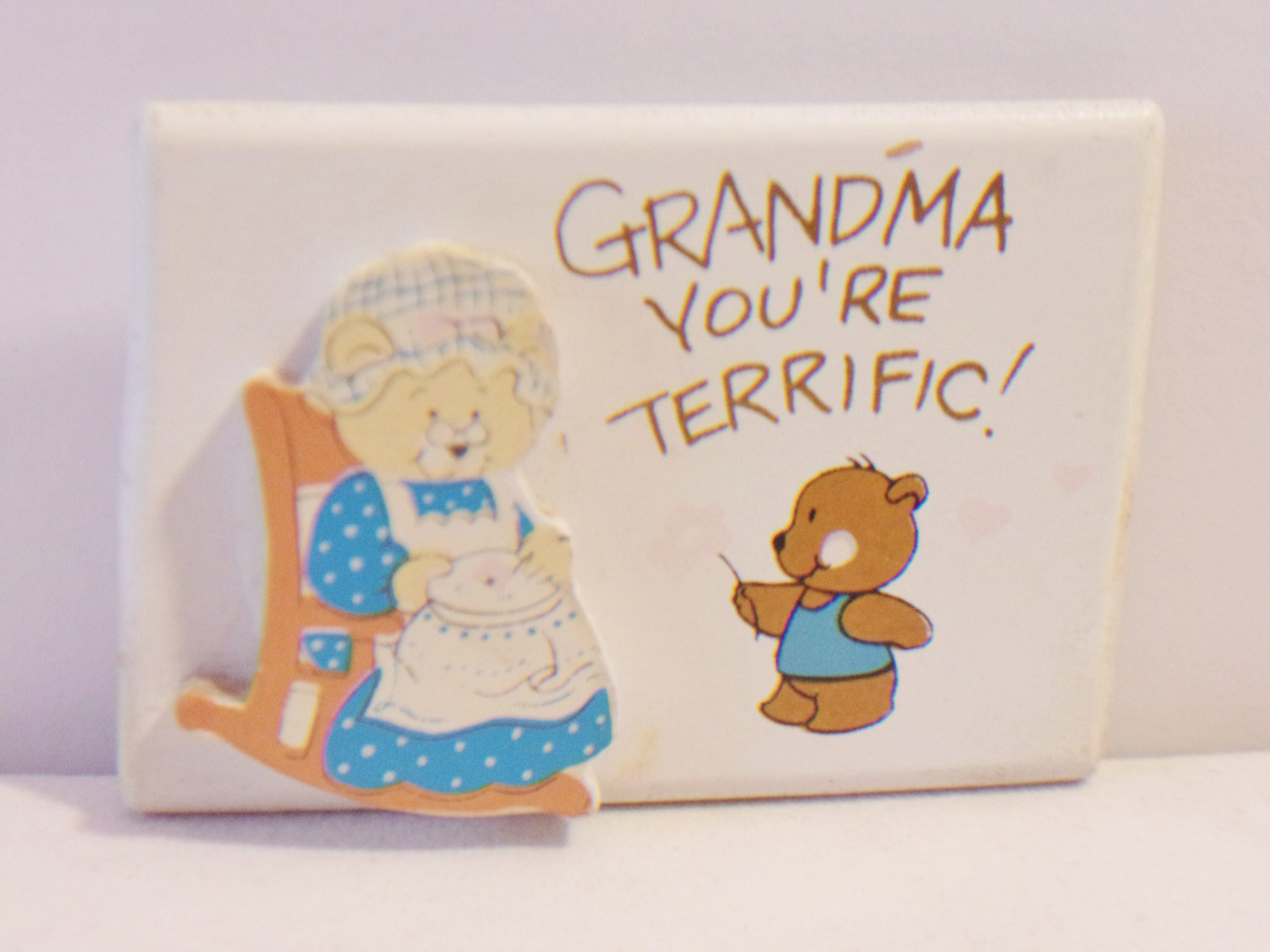 Vintage Kitchen Magnet Grandma Youre Terrific Teddy Bear ...