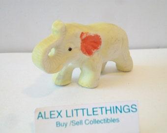 Vintage Yellow Elephant Figurine Japan