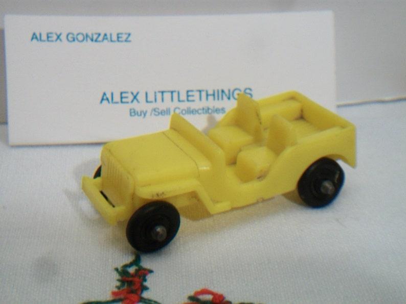 Voiture En 1970 Retro Willys Plastique Jeep Vintage Jouet Jaune wOiuZPXTkl