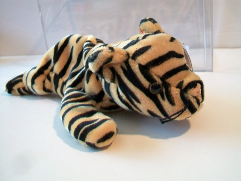6afde395b7f Vintage Ty Beanie Baby Babies STRIPES The Tiger CatRare